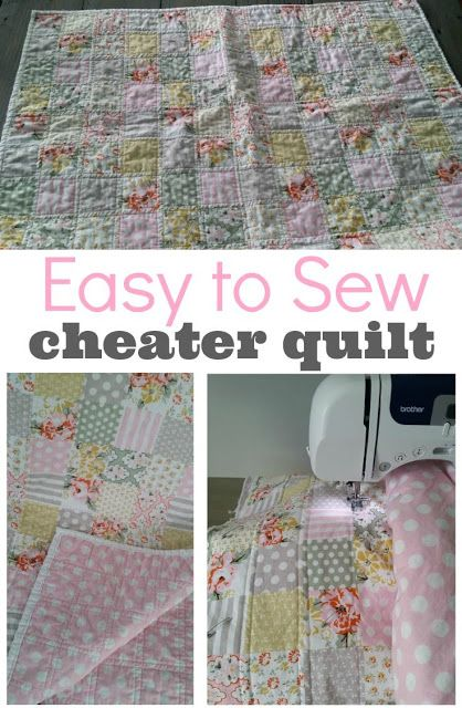 """Cheater"" Baby Quilt Tutorial — This type of quilt is great for the beginner. Whips up in only a few hours!"