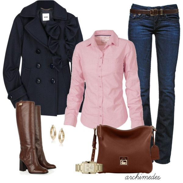 Casual Outfit: Casual Fall, Cute Outfits, Fall Outfits, Fashionista Trends, Casual Outfits, Brown Boots, The Navy, Casual Clothing, Fall Dresses