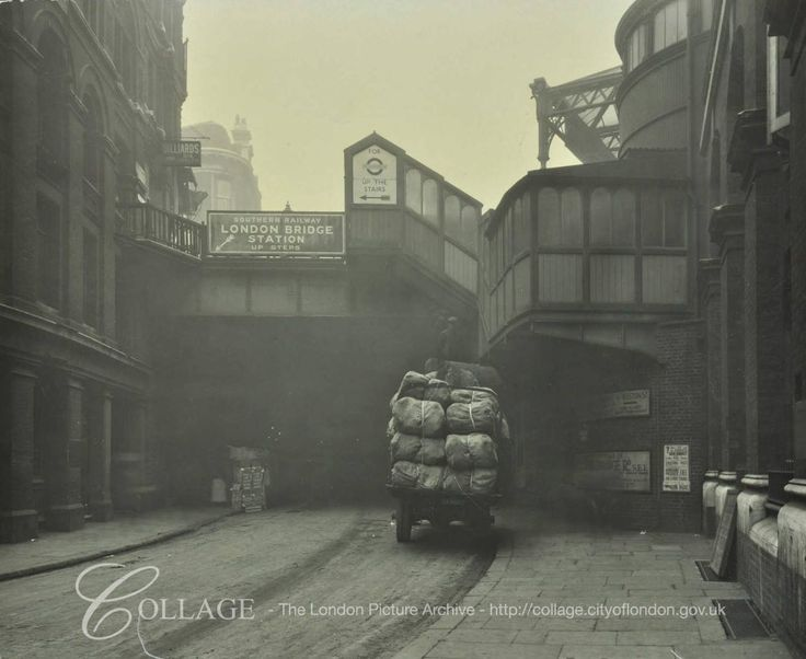 Joiner Street Under London Bridge Train Station London Bridge Bermondsey South East London England in 1930