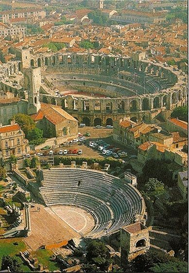 ROMAN ARENAS~ ARLES, FRANCE Some of the best preserved architecture of the Roman Empire in the world.