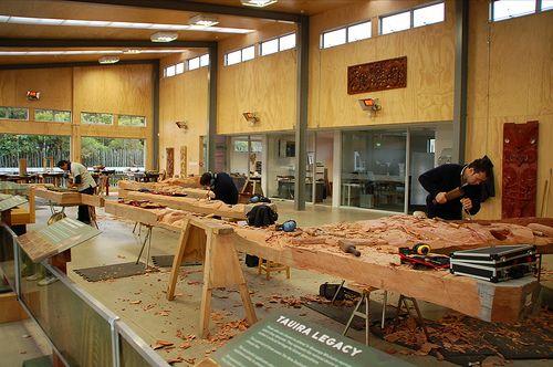 Wood Carving at Te Puia | Flickr - Photo Sharing!