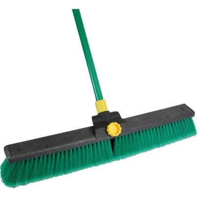 Quickie Super Bulldozer 24 in. Indoor/Outdoor Push Broom-00638CNRM at The Home Depot | $15.97