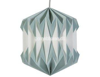 Sebra plisseret papirslampe, pastel blå
