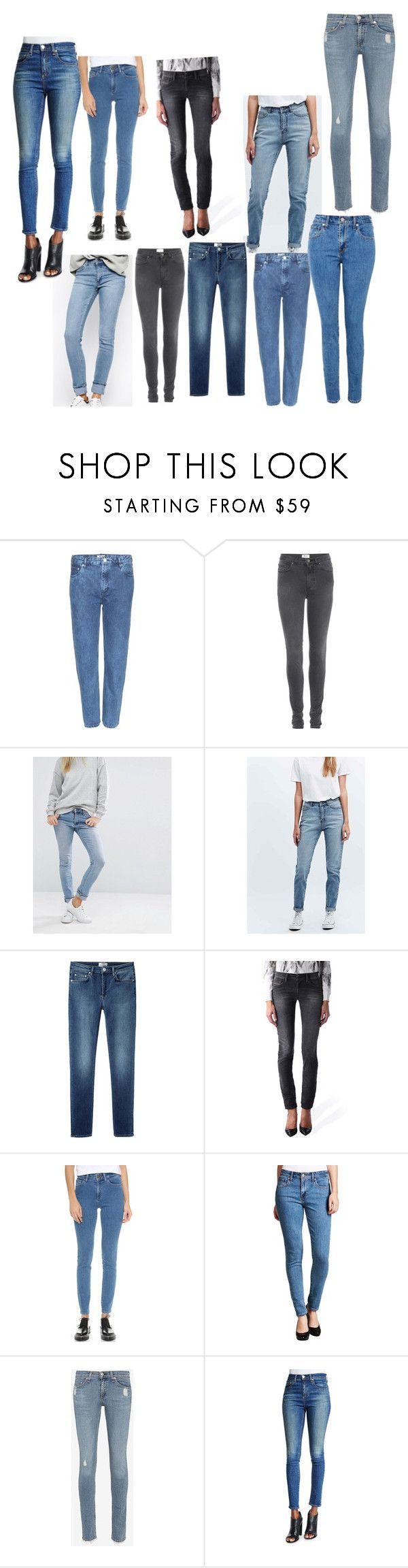 """""""jeans"""" by smartmuffin ❤ liked on Polyvore featuring Acne Studios, Cheap Monday, Diesel, DL1961 Premium Denim, Levi's, rag & bone and rag & bone/JEAN"""