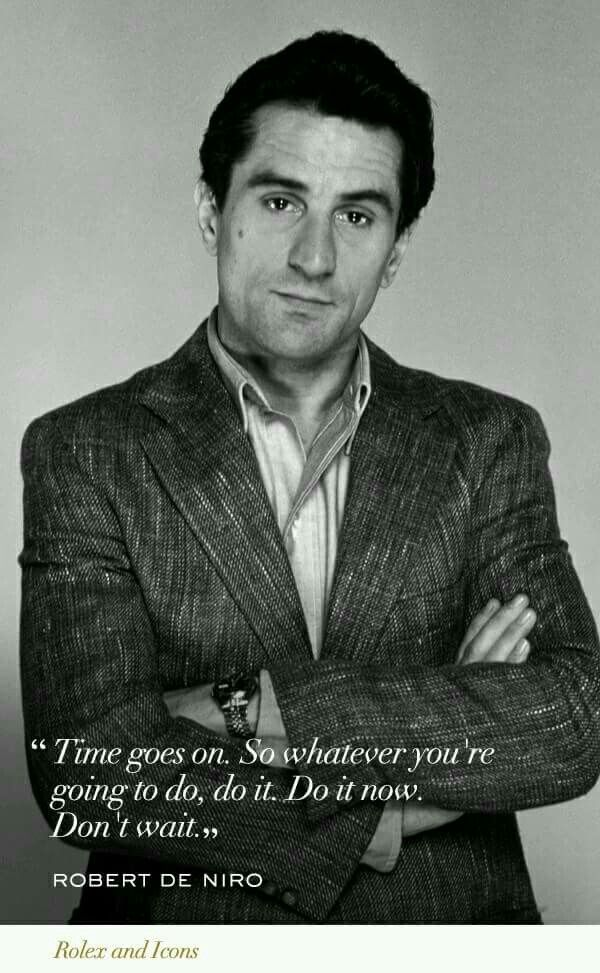 Robert De Niro. The Absolute best actor ever..