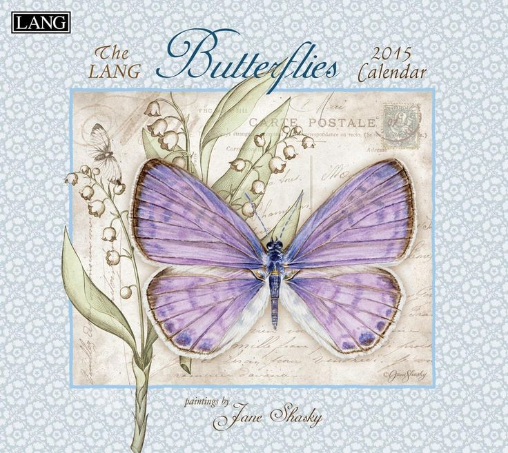 Butterflies 2015 Wall Calendar - 25% Off Today Only (Use Promotion Code: JANE25) This calendar features 12 full-color nature art images, large day grids for notes, major religious, U.S., federal, banking holidays and significant dates practiced worldwide.