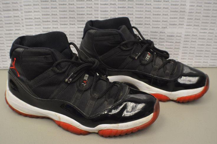 2012 Nike Air Jordan Retro 11 Bred 378037 010 Size 12 Iconic Classic Sneaker