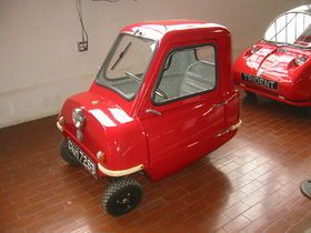 Peel P50 – At 54 inches long, the world's smallest car -- the P50 -- can fit in an elevator and makes a Smart look like a monster truck. Manufactured in the mid 1960s