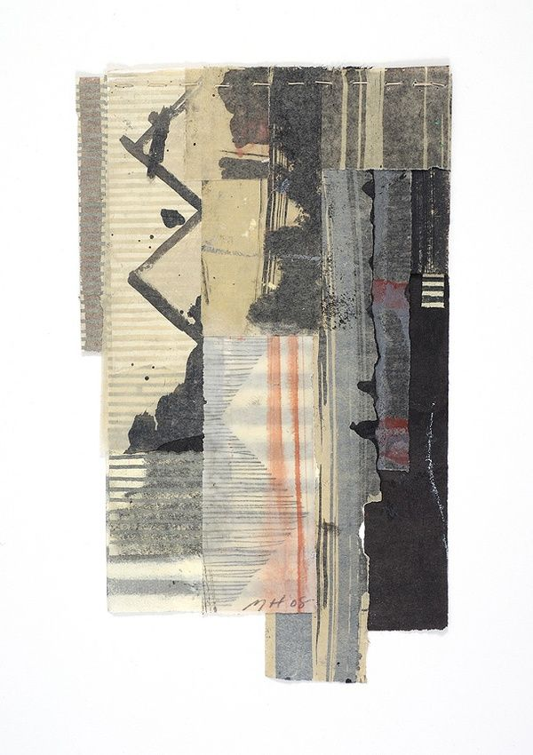 Mixed media on stitched paper by Matthew Harris .