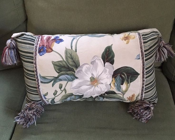 Waverly Colonial Williamsburg Garden Images Magnolia Pillow Rectangle Tassels  | eBay