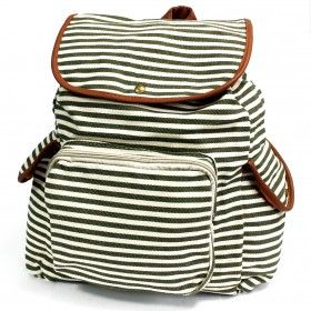 Traveler Backpacks - 2 Pocket Olive Stripe | Ancient Wisdom | Giftware Wholesale Olive Stripe Backpack with three external pockets for those small items and two internal pockets where one comes with a zipper. This backpack is very comfy and its good enough to carry all the school supplies.  #Wholesale_Bags #Wholesale_Backpacks #Traveller_Backpacks #Fashionable_Backpacks