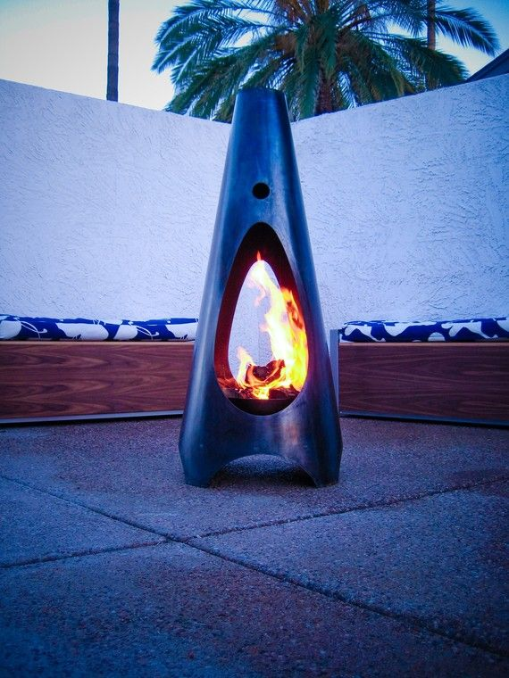 cool outdoor fireplace...