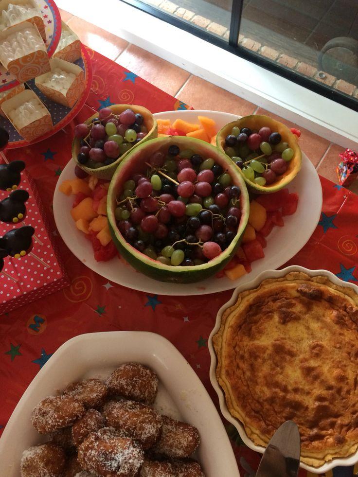 Mickey Mouse fruit platter