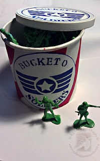 Bucket O Soldiers How To using PLAID® Paints: Wood Ideas, Soldiers, Buckets, Oatmeal Canister, How To, Toys Stories, Birthday Ideas