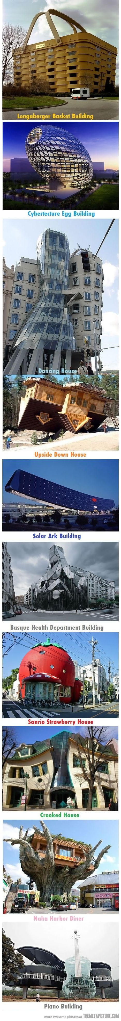 Unique buildings of the world…