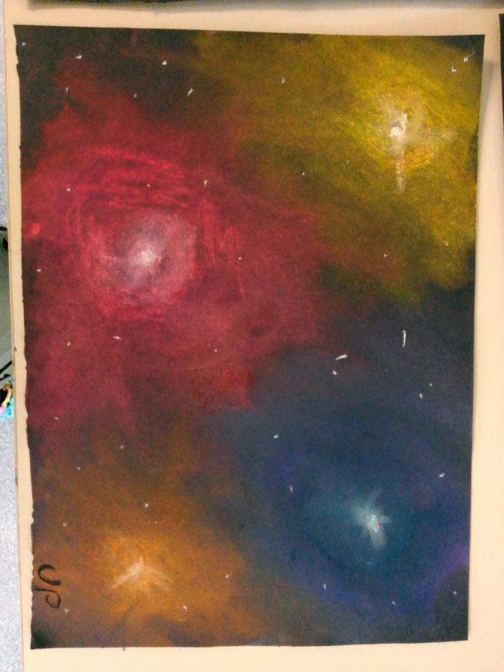 Given To Art lesson planner week 2 space nebulas with soft pastels