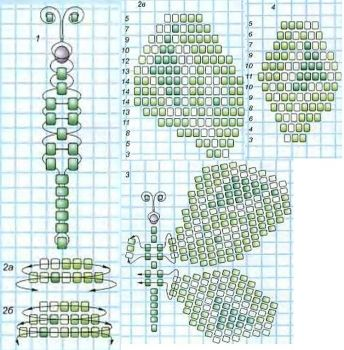 scheme for weaving butterfly bead