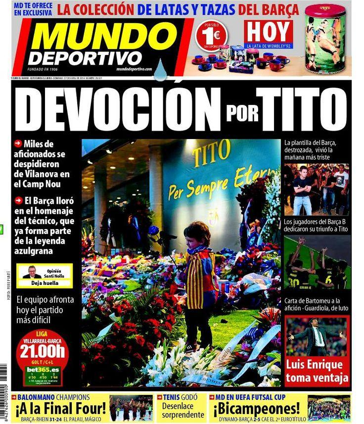 #RIP #RIPTito #RIPTitoVilanova #Barcelona #FCB  #MesqueunClub