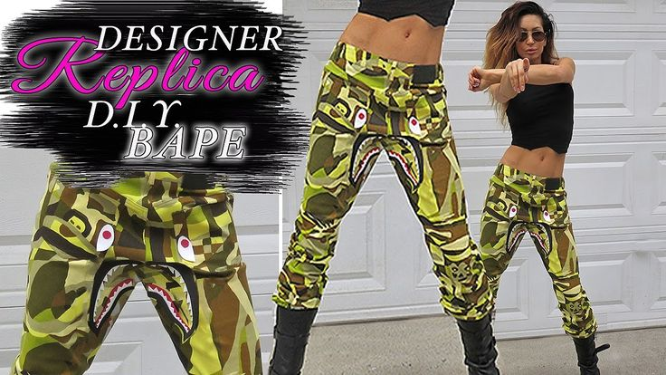 BAPE PANTS- DIY Inspired Replica