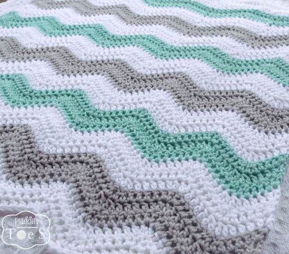 Crochet Baby Blanket Mint Green Crochet Blanket by puddintoes                                                                                                                                                                                 More