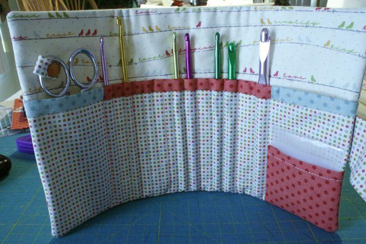 Quilted Knitting Needle Case Pattern : Crochet hook holder needle arts pinterest hooks