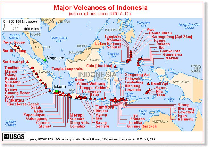 map indonesia volcanoesmajor volcanoes in indonesia indonesia is in the pacific ring of fire areamajor volcanoes of indonesia with eruptions since