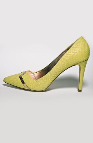 Just Cavalli pump High heel sandal with snake effect, golden fron decoration, 9 cm heel. 100%LEATHER Code: S09WL0025N07640