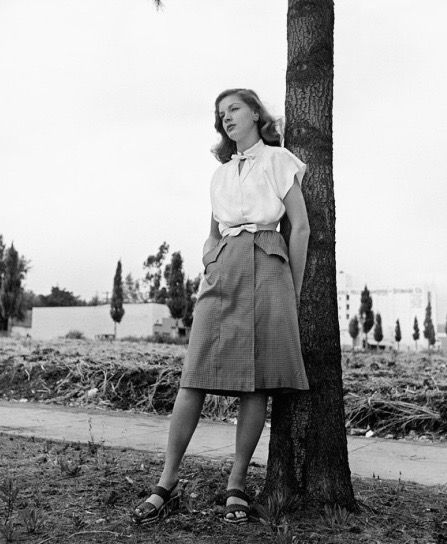 Lauren Bacall in Hollywood, California, 1944. Photo by Philippe Halsman.