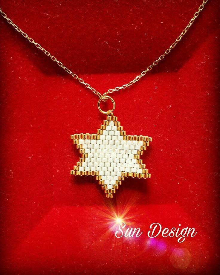 Yıldız #miyuki #beads #star #beads #pattern #fashion #bileklik #kolye #bracelets #küpe #design #sun #love