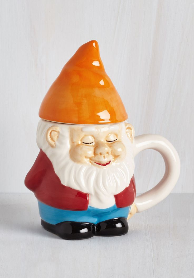 Rolling With the Gnomies Mug. When a morning meetup with friends calls you out of bed, grab this gnome mug and start the day fresh! #multi #modcloth