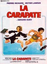 La Carapate est un film français réalisée par Gérard Oury et sorti en 1978. En mai 1968, un avocat, Jean-Philippe Duroc, quitte Paris afin de rendre visite à son client en prison, Martial Gaulard. Accusé de meurtre, il lui annonce que son pourvoi en cassation a été rejeté, faisant de lui un condamné à la peine capitale. Alors qu'il apprend la terrible nouvelle, une mutinerie éclate : Gaulard en profite pour s'échapper, entraînant avec lui, son pauvre avocat dans une véritable course…