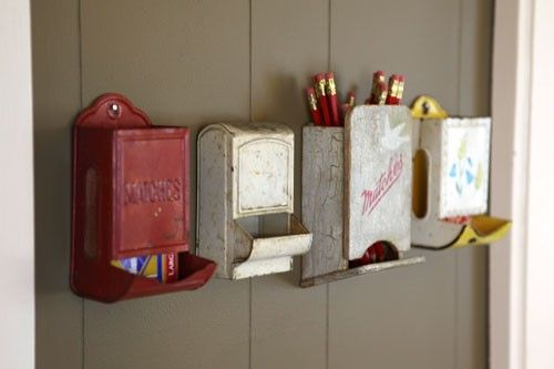 LilacsNDreams: Lets Get Organized Repurposed Upcycled Organize Your HomeAli Edward, Home Crafts, Fashion Vintage, Organic Ideas, Crafts Painting, Mail Boxes, Matching Boxes, Pencil Holders, Matching Holders