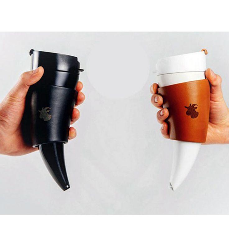 Twórczy Kozy Rogi Puchar Izolacji Termos Termos Ze Stali Nierdzewnej Termos Kubek Kawy Kilka Podróży Butelki Szklanki Wody