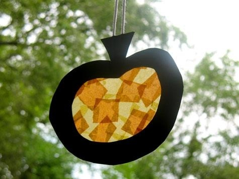 Preschool Crafts for Kids*: Fall Pumpkin Sun Catcher Craft