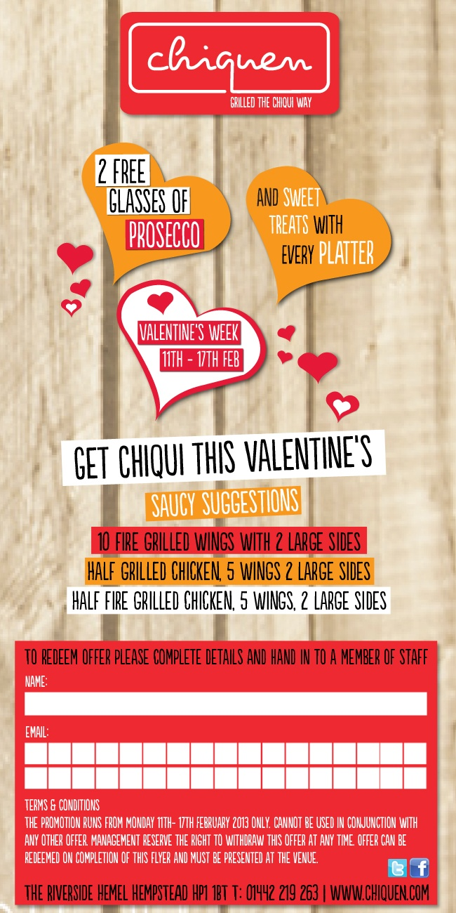 Chiquen Valentine's newsletter