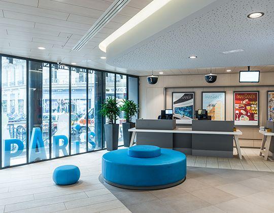 Office tourisme paris 1 lobby banque d 39 accueil - Office du tourisme d allemagne a paris ...