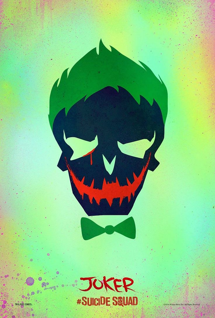 Suicide Squad Joker character poster First Suicide Squad Posters Arrive: Worst. Heroes. Ever.