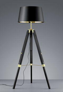 Elegante Dreibein Leuchte GENT 1-flg. Schwarz/Gold TRIO LEUCHTEN