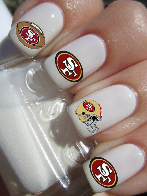 Hey, I found this really awesome Etsy listing at http://www.etsy.com/listing/130743674/san-francisco-49ers-nail-decals