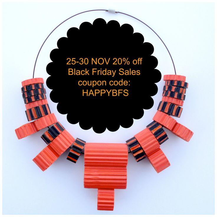 #BlackFridaySales 25-30 Nov 20%off  coupon code: HAPPYBFS