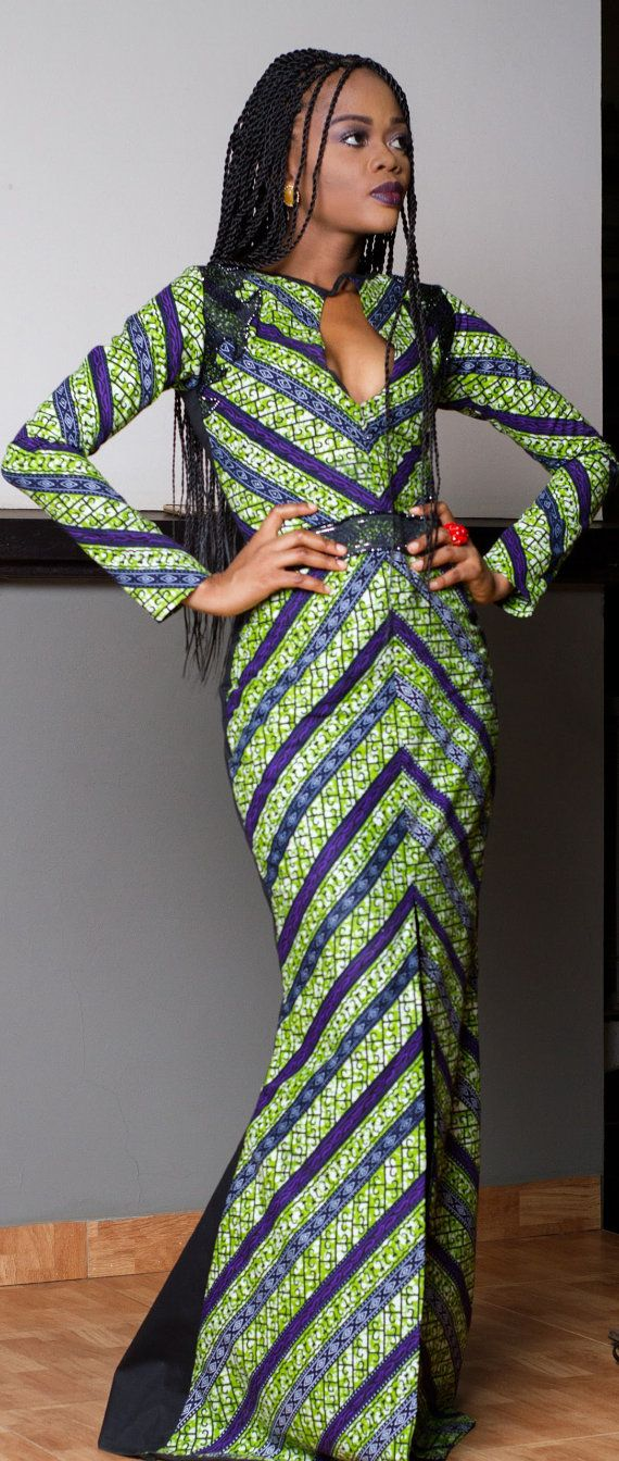 Ankara dress. African dress by TrueFond on Etsy