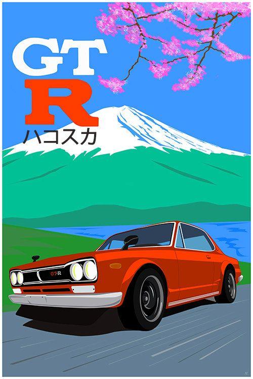 Hakosuka Dreams  JDM Legend  Nissan Skyline GTR by GarageFabro #Hakosuka #JDM #Skyline #GTR #Nissan #Datsun #Legend #Art #Poster