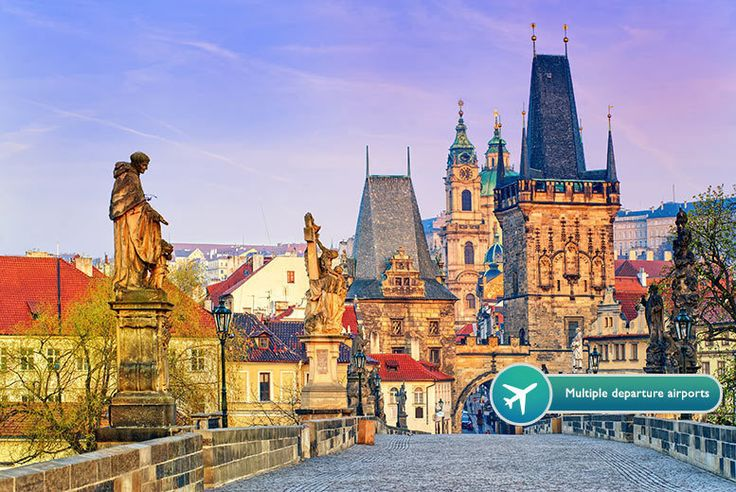 2-3nt Prague Break with Dinner or Cruise & Flights deal in Holidays Escape to the stunning city of Prague for a two or three-night break.   Includes return flights from London Stansted, Luton, Gatwick or Manchester.   Stay in a modern twin or double en-suite room at the Hotel Aida.  Includes a delicious breakfast each morning as well as either a Vlatva River cruise or dinner for two at the...