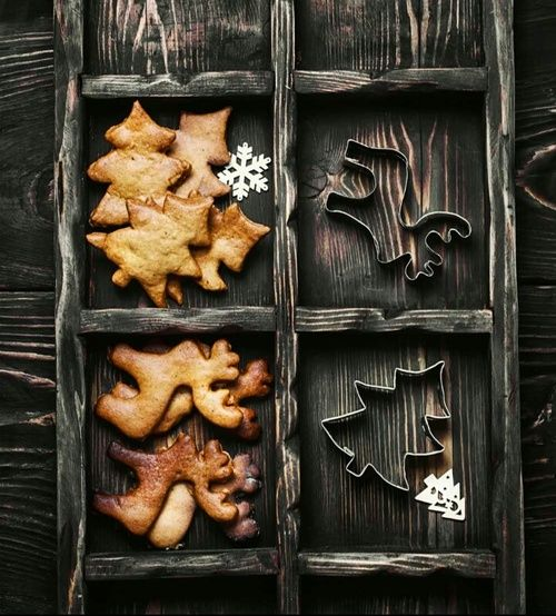 Christmas. Winter. New Year. Cookies.