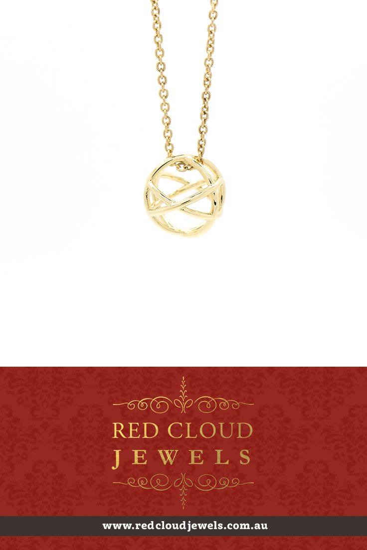 This 18ct yellow gold Genesa pendant is based on the principles of elemental geometry reflecting unity and interconnectedness.  | Outstanding Jewellery for Outstanding Individuals | www.redcloudjewels.com.au