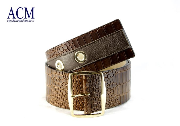 Cintura donna stampa coccodirllo in vera pelle #crocodile #leather