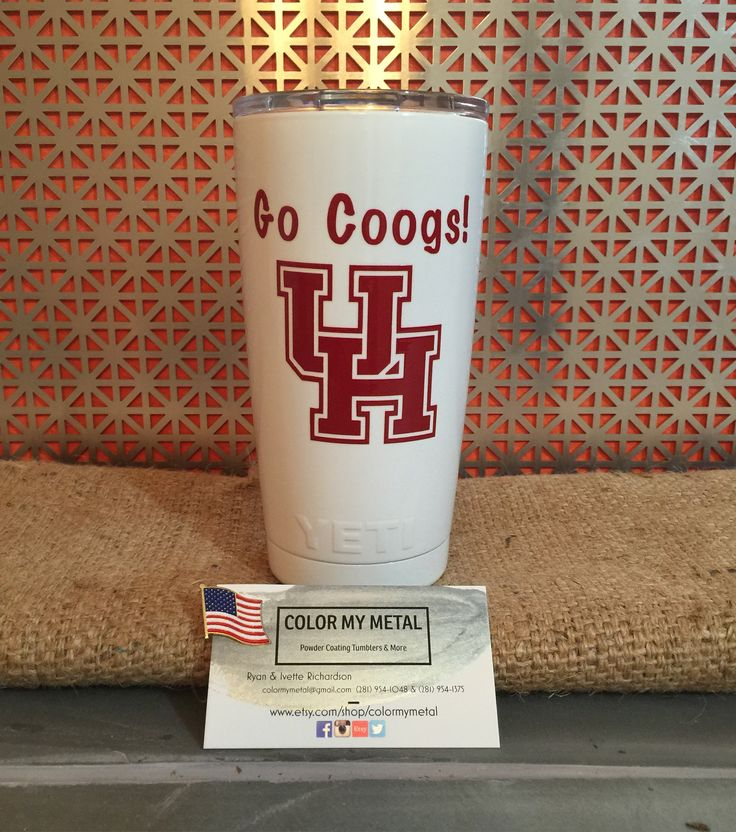Get your own personalized Yeti tumbler, RTIC tumbler, yeti cup, RTIC cups. UH yeti, university of Houston yeti, go coogs yeti