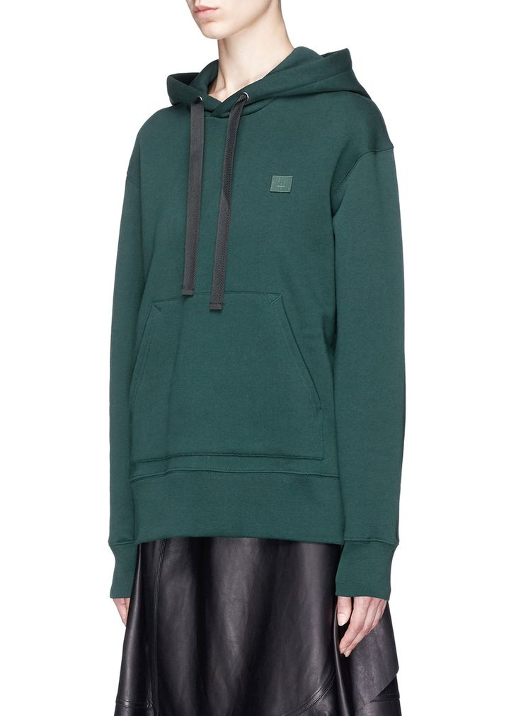 Front View - Click To Enlarge - Acne Studios - 'Ferris Face' oversized hoodie