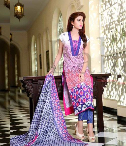 Lala Classic Cotton Embroidered lawn Suits Vol 1. CCE_03B