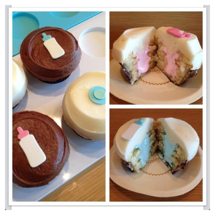 Sprinkles gender reveal cupcakes! - this is definitely ...